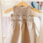 Kumaşla Örgü Kız Çocuk Elbise Modelleri ve Yapılışı 93