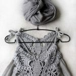 Kumaşla Örgü Kız Çocuk Elbise Modelleri ve Yapılışı 94