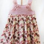 Kumaşla Örgü Kız Çocuk Elbise Modelleri ve Yapılışı 98