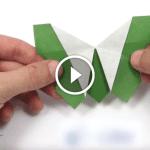 Origami Kelebek Yapılışı, Videolu Anlatım