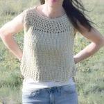 Şiş Örgü Yazlık Askılı Bluz Modeli Yapımı 4