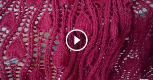 Videolu, Damla Desenli Ajurlu Şal Modeli Yapımı