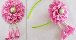 Videolu, Saten Kurdele ile Çiçek Nasıl Yapılır?