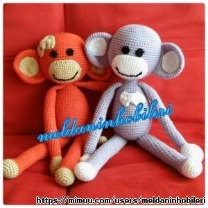 Amigurumi Perde Bağı Uyku Arkadaşı Maymun