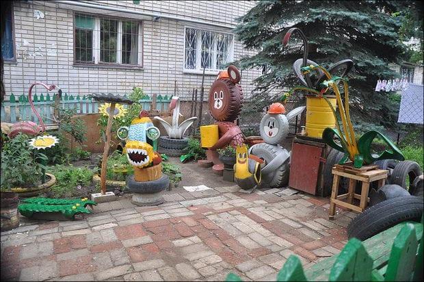 Поделки для детского дворика 880