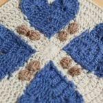 Aşk Motif Bebek Battaniyesi Modeli Yapılışı 10