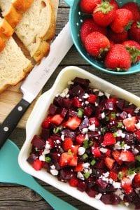 Çilekli Pancar Salatası Tarifi 3