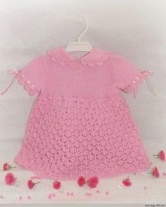 Kız Çocuk Örgü Elbise Modeli Yapımı 1