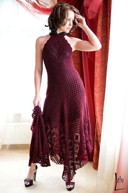 Örgü Elbise Modelleri 9
