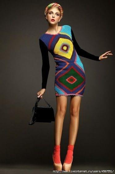 Örgü Elbise Modelleri 7