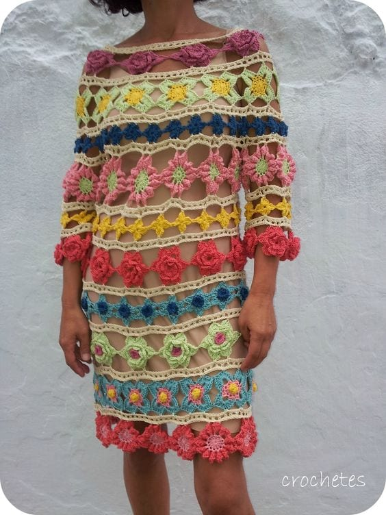 Örgü Elbise Modelleri 88