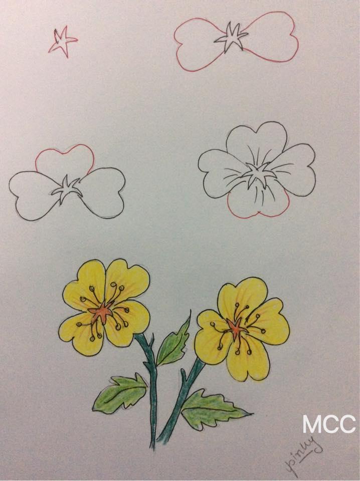 19 Adım Adım Kolay çiçek çizme Mimuucom
