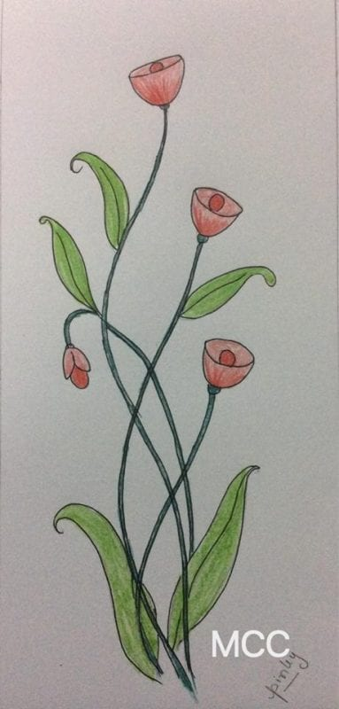 Adım Adım Kolay Çiçek Çizme 10