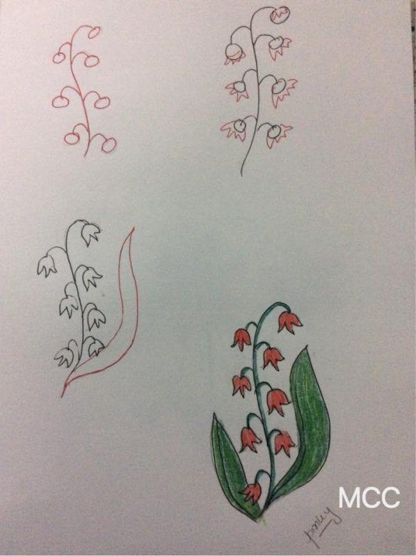 Adım Adım Kolay Çiçek Çizme 17