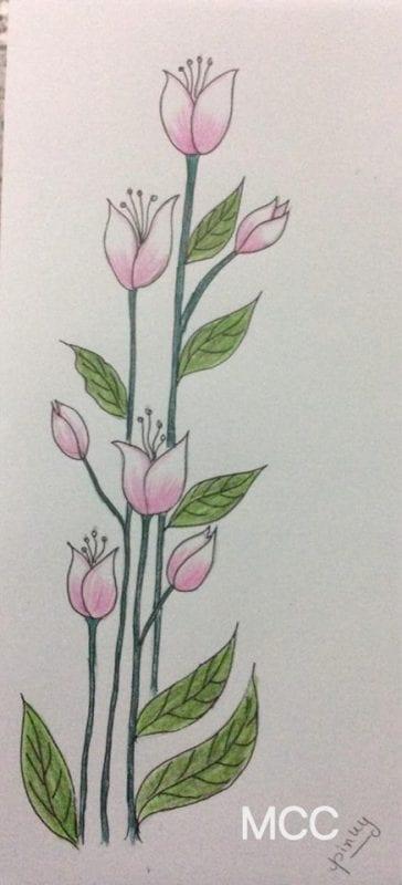 Adım Adım Kolay Çiçek Çizme 2
