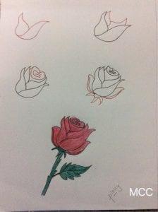19+ Adım Adım Kolay Çiçek Çizme