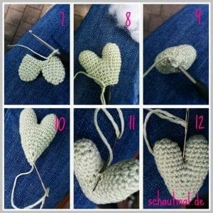 Amigurumi Kalp Salyangoz Yapımı 1