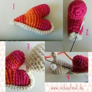 Amigurumi Kalp Salyangoz Yapımı 2