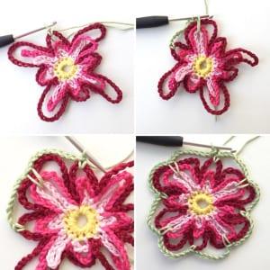 Çiçek Kırlent Modeli Yapılışı 3