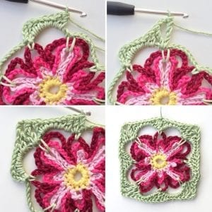 Çiçek Kırlent Modeli Yapılışı 4