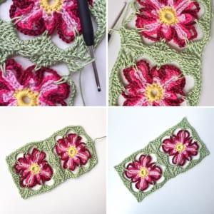 Çiçek Kırlent Modeli Yapılışı 6