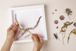 DIY, Canlı Çiçekten Pano Yapılışı 7