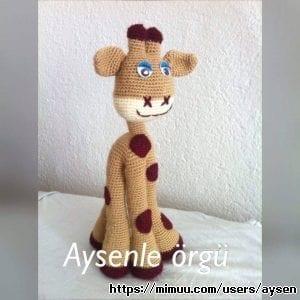 Amigurimi Organik Oyuncak Zürafa