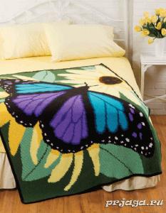Kelebek Motifli Battaniye Nasıl Yapılır?