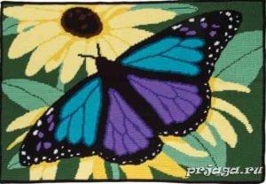 Kelebek Desenli Battaniye Yapılışı 2