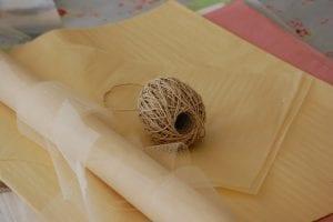Krepon Kağıdı ile Tül Çiçek Yapımı 12
