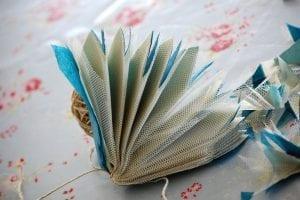 Krepon Kağıdı ile Tül Çiçek Yapımı 4