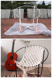Makrome İpinden Hamak Sandalye Yapılışı 1