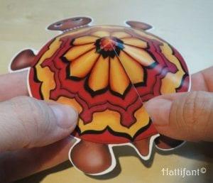 Okul Öncesi Etkinlik Kaplumbağa Mandala Yapımı 9