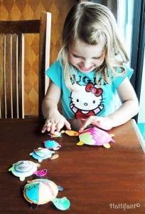 Okul Öncesi Etkinlik Kaplumbağa Mandala Yapımı 10
