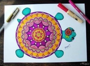Okul Öncesi Etkinlik Kaplumbağa Mandala Yapımı 1