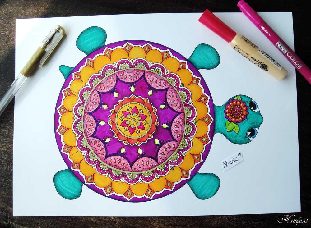 Okul öncesi Etkinlik Kaplumbağa Mandala Yapımı Mimuucom