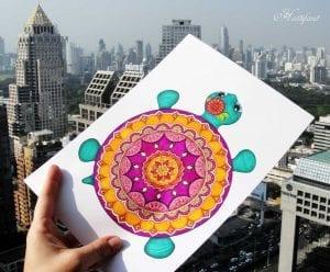 Okul Öncesi Etkinlik Kaplumbağa Mandala Yapımı 3