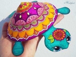 Okul Öncesi Etkinlik Kaplumbağa Mandala Yapımı 4