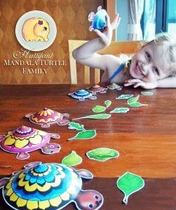 Okul Öncesi Etkinlik Kaplumbağa Mandala Yapımı 5