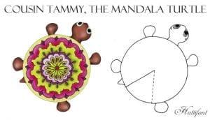Okul Öncesi Etkinlik Kaplumbağa Mandala Yapımı 6