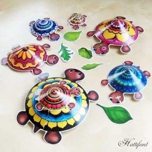 Okul Öncesi Etkinlik Kaplumbağa Mandala Yapımı 7