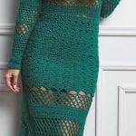 Örgü Bayan Elbise Modelleri 13
