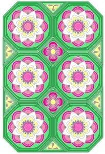Çiçekli Battaniye Modeli Yapılışı 9