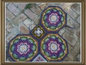 Çiçekli Battaniye Modeli Yapılışı 12