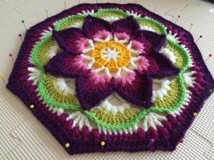 Çiçekli Battaniye Modeli Yapılışı 17