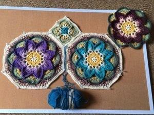 Çiçekli Battaniye Modeli Yapılışı 18