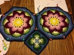 Çiçekli Battaniye Modeli Yapılışı 20