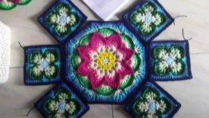 Çiçekli Battaniye Modeli Yapılışı 22