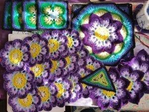 Çiçekli Battaniye Modeli Yapılışı 24