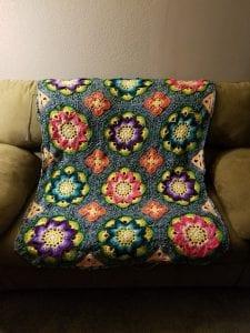 Çiçekli Battaniye Modeli Yapılışı 28
